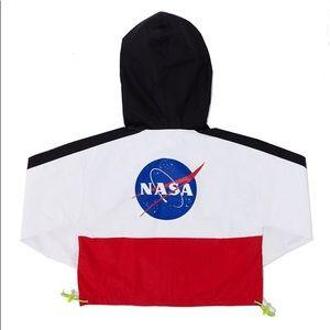 NASA Colorblock Crop Windbreaker